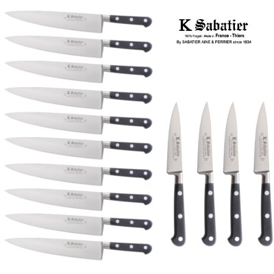 Sabatier Knives Made in France, the original factory since 1834. We have both Stainless and hard to find carbon steel